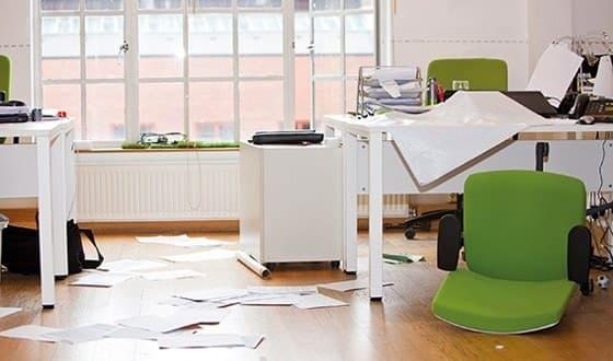 chaotisches büro